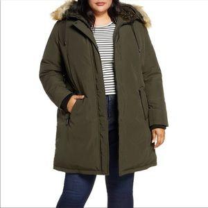 Sam Edelman Parka Winter Coat w/faux fur hood